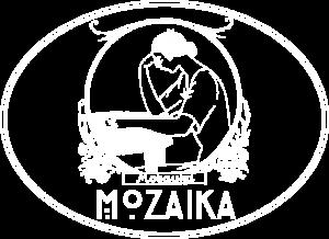Mozaika Logo Color white